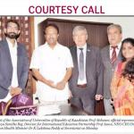 Ректор университета «Туран» Алшанов Рахман Алшанович в апреле 2018 года посетил с рабочим визитом Индию